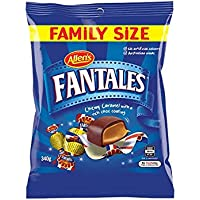 Allens Fantales Chewy Caramel with Chocolate Coating, 340 g