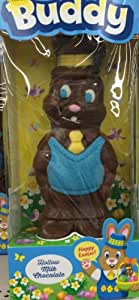 Giant Chocolate Easter Bunny Hip Hop Bunny Dude with Hip Hop Hat and Gold Chain Hollow Milk Choclate Bunny 14 Oz