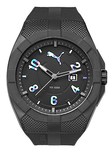 Puma Iconic Men's Water Resistant Watch - Black/Rainbow / One Size Fits All