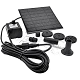Sonline Solar Panel Power Submersible Fountain Pond Water Pump
