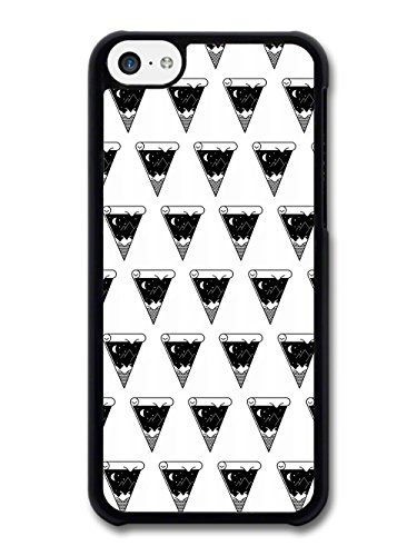 Pizza with Night Sky Minimalist Pattern in Black and White case for iPhone 5C