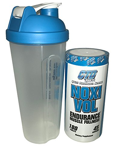Free Shaker Cup Promo. Nitric Oxide Supplement, Powerful Muscle Building NO Booster with L-Arginine, Noxivol 180 Tablets ()