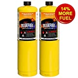 Pack of 2, BLUEFIRE Modern MAPP Gas Cylinder, 16.1