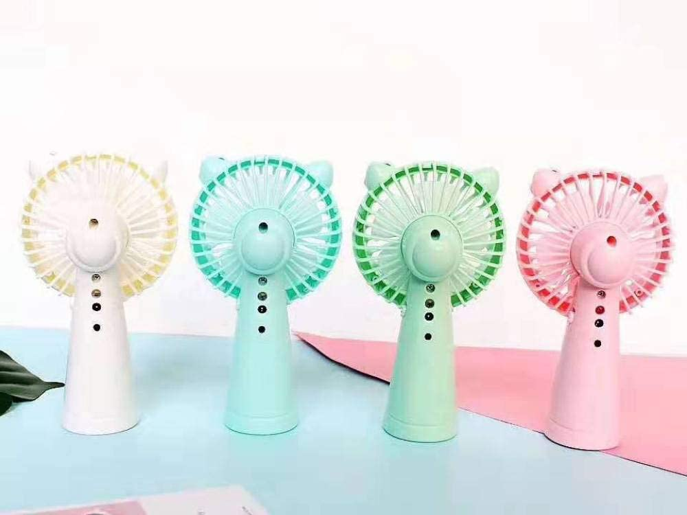 Portable Mini Fanhandheld Small Fan USB Mini Powerful Silent Small Fan Student Dormitory Office Activity Gift@White