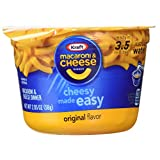 KRAFT Macaroni & Cheese Dinner Cup Easy Mac Original, 58 grams Cups (Pack of 12)