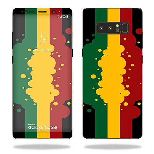 MightySkins Skin Compatible with Samsung Galaxy Note 8 - Rasta Flag   Protective, Durable, and Unique Vinyl Decal wrap Cover   Easy to Apply, Remove, and Change Styles   Made in The USA