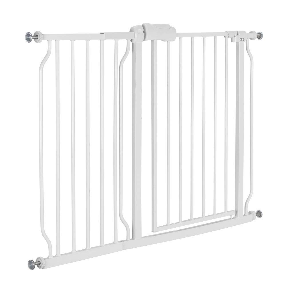 Two Way Auto Close Safety Baby Gate, Extra Tall and Wide Child Gate, Easy Walk Thru Durability Dog Gate for The House, Stairs, Doorways. (C (43.75-47.6)'')
