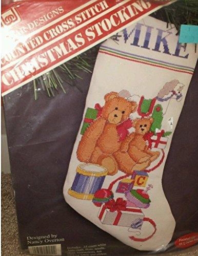(Teddy Bear & Toys Cross Stitch Christmas Stocking Kit)