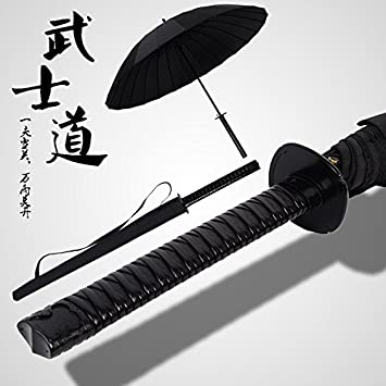 Mayuan520 Samurai Paraguas, _8 / 16 De Hueso, Mango Largo Mango Recto, Paraguas