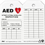 ZING 7018 Eco Safety Tag, AED Inspection, 5.75Hx3W, 10 Pack