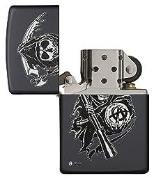 Zippo Sons of Anarchy Grim Reaper Pocket Lighter, Black Matte