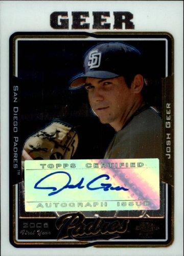 2005 Topps Chrome Update Baseball Rookie Card #228 Josh Geer Near Mint/Mint