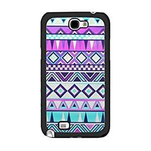 Aztec Design Colorful Geometric Diamond Shape Hybrid Graphics Print Case Cover for Samsung Galaxy Note 2 N7100 Protective Phone Case Skin