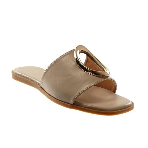 Sandale Angkorly Doré Plat On Perforée 1 Femme Cm Chaussure Talon Mule Mode Slip 5uKF3TlJ1c