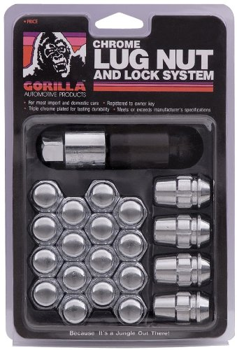 Gorilla Automotive 71773 Acorn Chrome Lug Nut and Lock System (7/16