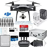 DJI Phantom 4 Pro Quadcopter Drone Camera (Obsidian) with Battery, Charging Hub, Custom Backpack and 64GB Memory Card Bundle (PHANTOM 4 PRO PLUS ESSENTIALS BUNDLE)