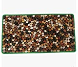 WE&ZHE Natural Pebble Foot Massage Mat/Foot Bottom Massager/Foot Care Carpet /Foot Cushion Gravel Road (4075 CM)