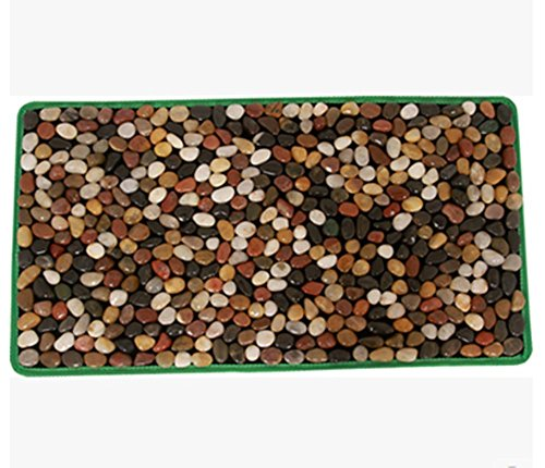WE&ZHE Natural Pebble Foot Massage Mat/Foot Bottom Massager/Foot Care Carpet /Foot Cushion Gravel Road (4075 CM) by WE&ZHE
