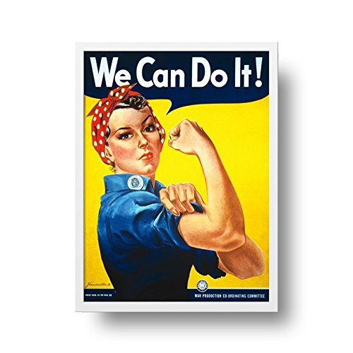 Poster We Can Do It! - Moldura Branca - 50 x 70 cm