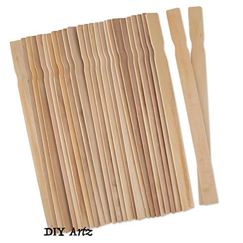 Wooden Paint Stir Sticks, [12] inch, 100 Pack, Perfect for Mixing Liquids. DIY Craft Sticks, Home Improvement, Natural Smooth Wood by DIYARTZ