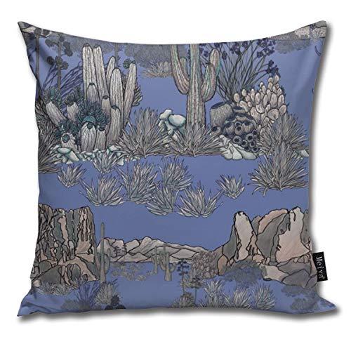 Brecoy AZ Desert Scene On Lavender Cushions Case for Sofa Home Decorative Pillowcase Gift Ideas Zippered Pillow Covers 18X18Inch]()
