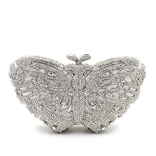 porte Women's Rhinestone soirée main monnaie à G de sac favourite papillon sac coloré vrSv4q