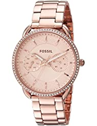 Fossil Womens Tailor Quartz Stainless Steel Casual Watch, Color:Rose Gold-Toned (Model: ES4264)