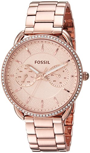 Fossil Women's 'Tailor' Quartz Stainless Steel Casual Watch, Color:Rose Gold-Toned (Model: (Fossil Multifunction Watch)