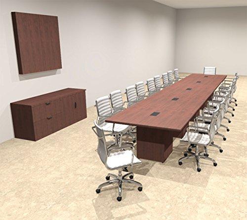 Modern Rectangular Top Cube Leg 20' Feet Conference Table, OF-CON-CS29