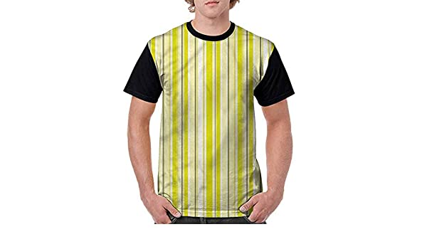 BlountDecor Performance T-Shirt,Colorful Vertical Stripes Fashion Personality Customization