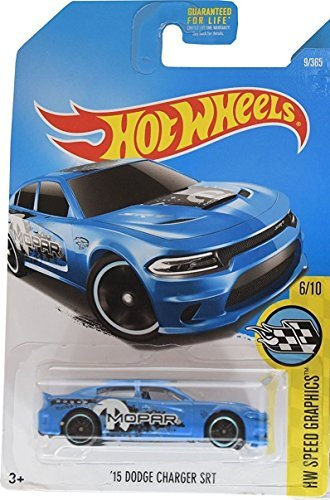 Hot Wheels 2017 HW Speed Graphics '15 Dodge Charger SRT 9/365, Blue