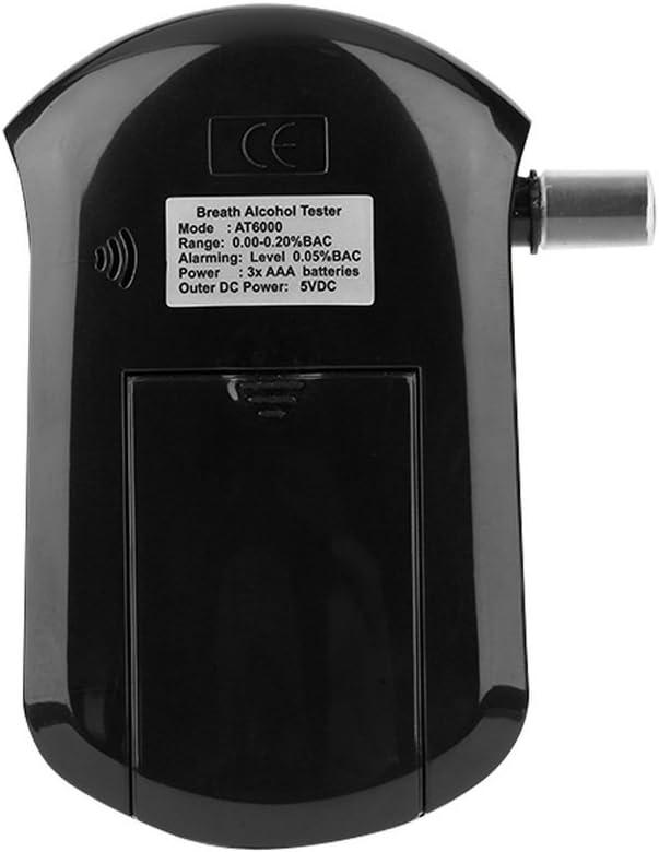 Leshp Alcohol/ímetro digital profesional port/átil con 5 boquillas y pantalla LCD