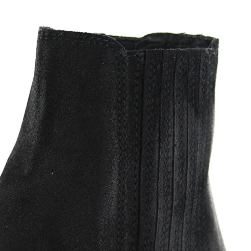 Chelses Bateau Bottes Dean Noir Boots Serraje Fashion Negro wOPNXn80k