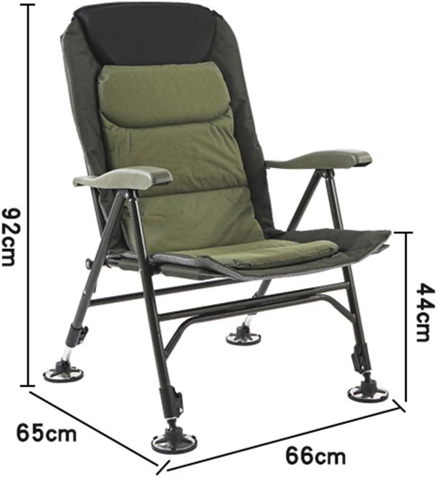 TFACR Chaise de p/êche /à la Carpe si/ège /à Dossier r/églable /à 180 degr/és pour Barbecue de Plage de Voyage en Plein air Fauteuil Pliant avec Sac de Rangement