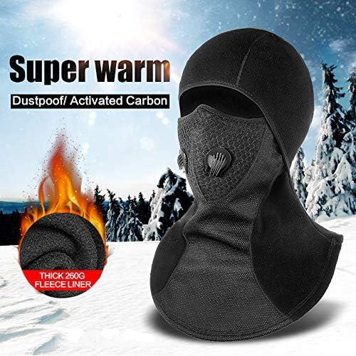 Convient aux Casques pour Adultes Masque de Silicone Respirant ZXYSR Masque int/égral Balaclava Collier Coupe-Vent Hiver Chaud