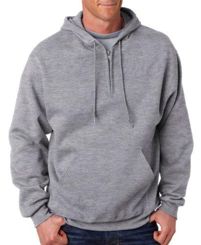Jerzees Mens NuBlend 50/50 Fleece Quarter-Zip Pullover Hood (994MR) -OXFORD - Jerzees Oxfords Fleece