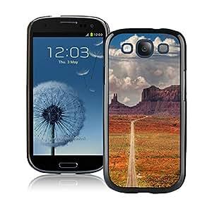 Dessert Road Wallpaper Black Cool Photo Custom Samsung Galaxy S3 I9300 Phone Case