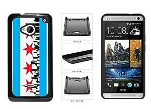 Chicago Flag Skyline Plastic Phone Case Back Cover HTC One M7 wangjiang maoyi