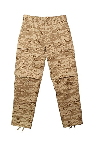 Camouflage Military BDU Pants, Army Cargo Fatigues (Desert Digital Camouflage, Size 2X-Large)