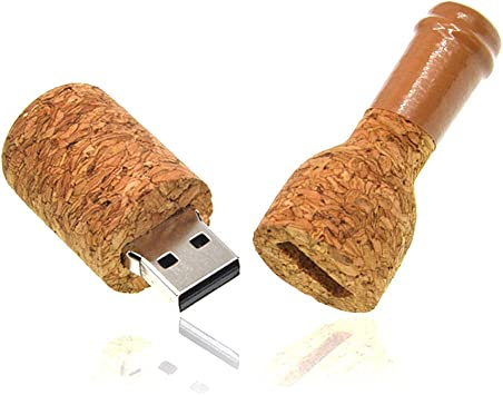 USB 2.0 Message in a Bottle Design Single Item 1-8GB Flash Drive Bottle with Cork Flash Drive.