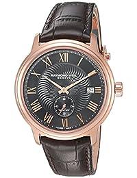 Raymond Weil Men's 2238-PC5-00209 Maestro Analog Display Swiss Automatic Brown Watch
