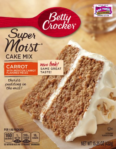 Betty Crocker Super Moist Cake Mix Carrot 15.25 oz Box (pack of 6)