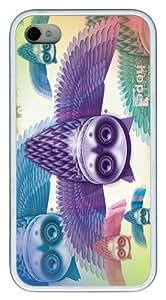 IMARTCASE iPhone 4S Case, Bird Sanctuary Owls Case for Apple iPhone 4S/5 TPU - White