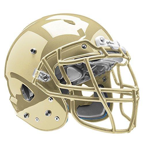 Vegas Gold Football Helmet - Schutt Sports Vengeance VTD II Football Helmet Without Faceguard, Metallic Vegas Gold, Large
