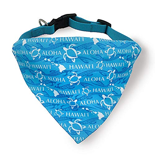 Hawaiian Pet Dog Cat Bandana Collar (Island Honu Turtle, Small)
