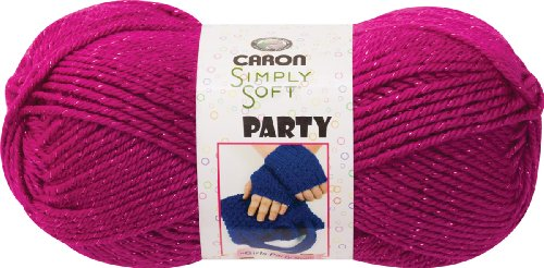 Caron  Simply Soft Party Yarn - (4) Medium Worsted Gauge  - 3 oz - Fuchsia -   For Crochet, Knitting & (Fuchsia Crochet)
