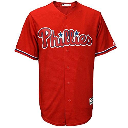 Philadelphia Phillies Red Blank Infants Cool Base Alternate Replica Jersey (Toddler 4T)