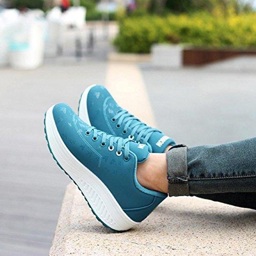 84cb97016a Sneakers Blu Scarpa Crescente Elecenty Zeppa Donna Per Eleganti A ...