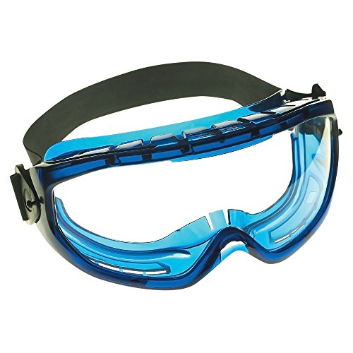 Jackson Safety V80 Monogoggle XTR OTG Goggle Protection (18624), Over Glasses, Anti-Fog, Clear Lens, Blue Frame, 6 Pairs / - Xtr Lens Clear