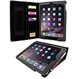 iPad Air (iPad 5) Case, Snugg™ - Executive Smart Cover With Card Slots & Lifetime Guarantee (Black Leather) for Apple iPad Air (2013)